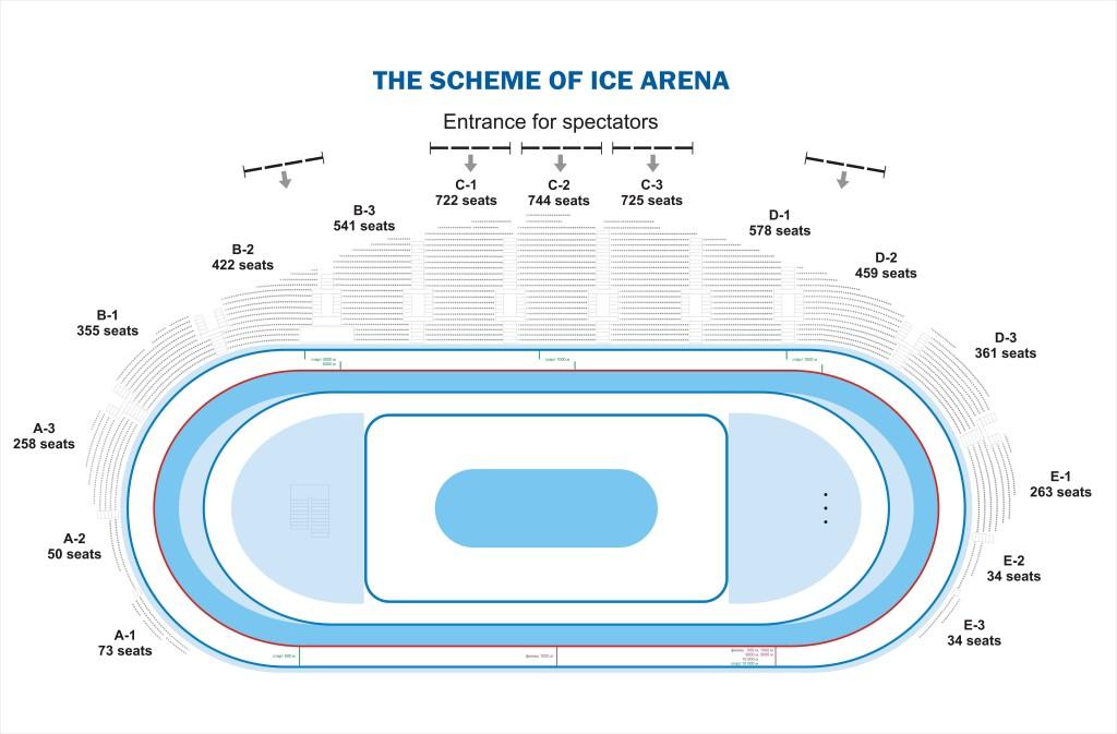 Ледовый дворец схема трибун с местами